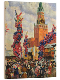 Wood print  Easter Market at the Moscow Kremlin - Boris Mihajlovic Kustodiev
