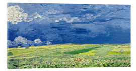 Acrylic print  Wheatfields under Thunderclouds - Vincent van Gogh