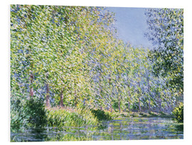 Foam board print  Bend in the Epte River near Giverny - Claude Monet