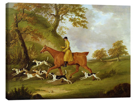 Canvas print  Huntsman and Hounds - John Nott Sartorius