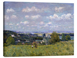 Canvas print  The Valley of the Seine at Saint-Cloud - Alfred Sisley