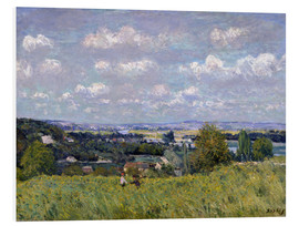 Foam board print  The Valley of the Seine at Saint-Cloud - Alfred Sisley
