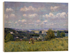 Wood print  The Valley of the Seine at Saint-Cloud - Alfred Sisley