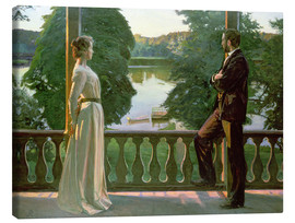 Canvas print  Nordic Summer Evening - Sven Richard Bergh