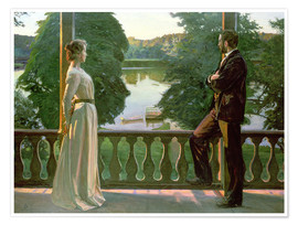Premium poster  Nordic Summer Evening - Richard Bergh