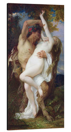Aluminium print  Nymph Abducted by a Faun - Alexandre Cabanel