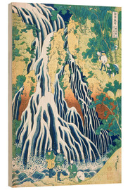 Wood print  Kirifuri Fall on Kurokami Mountain - Katsushika Hokusai