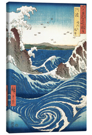 Canvas  View of the Naruto whirlpools at Awa - Utagawa Hiroshige