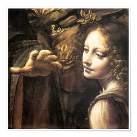 Premium poster  Madonna of the rocks (detail) - Leonardo da Vinci