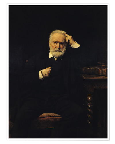 Premium poster Portrait of Victor Hugo