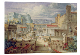 Acrylic print  A Scene in Ancient Rome - Joseph Michael Gandy