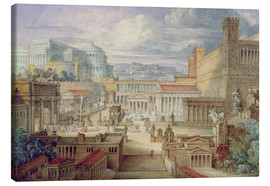 Canvas  A Scene in Ancient Rome - Joseph Michael Gandy