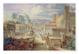 Premium poster  A Scene in Ancient Rome - Joseph Michael Gandy