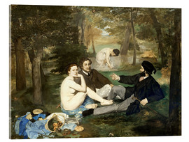 Acrylic print  Breakfast outdoors - Edouard Manet