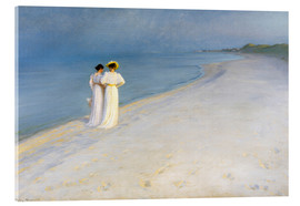 Acrylic glass  Summer Evening on the Skagen Southern Beach with Anna Ancher and Marie Kroyer - Peder Severin Kroyer