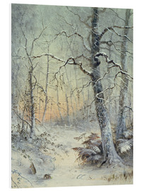 Foam board print  Winter Breakfast - Joseph Farquharson