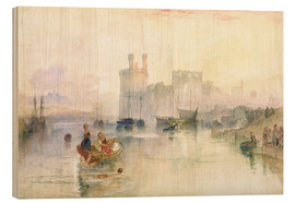 Wood print  View of Carnarvon Castle - Joseph Mallord William Turner
