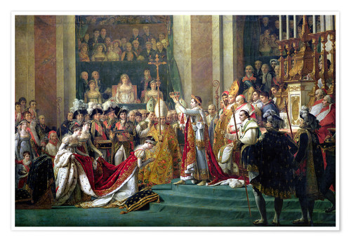 Premium poster The Consecration of the Emperor Napoleon