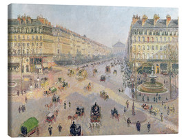 Canvas print  The Avenue de L'Opera - Camille Pissarro