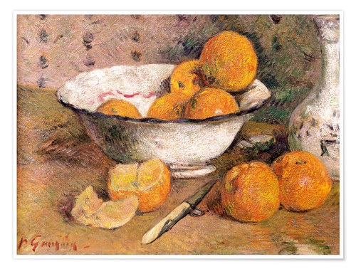 Premium poster Still life with Oranges