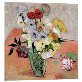 Acrylic print  Roses and Anemones - Vincent van Gogh