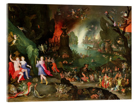 Acrylic print  Orpheus with a Harp Playing to Pluto and Persephone in the Underworld - Jan Brueghel d.Ä.