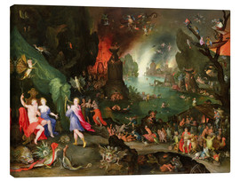 Canvas print  Orpheus with a Harp Playing to Pluto and Persephone in the Underworld - Jan Brueghel d.Ä.