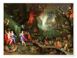 Premium poster Orpheus with a Harp Playing to Pluto and Persephone in the Underworld