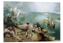 Foam board print  Landscape with the fall of Icarus - Pieter Brueghel d.Ä.