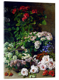Acrylic glass  Spring Flowers - Claude Monet