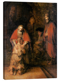 Canvas  Return of the Prodigal Son - Rembrandt van Rijn