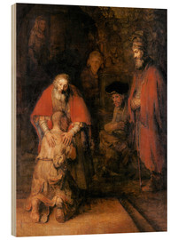 Wood print  Return of the Prodigal Son - Rembrandt van Rijn