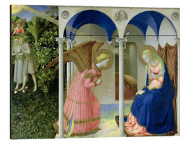 Aluminium print  The Annunciation - Fra Angelico