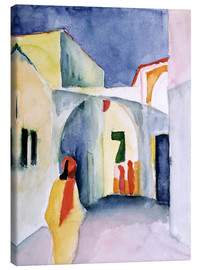Canvas  Alley in Tunis - August Macke