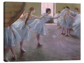 Canvas print  Dancers at Rehearsal - Edgar Degas