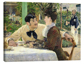 Canvas print  The Garden of Pere Lathuille - Edouard Manet