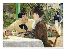 Premium poster  The Garden of Pere Lathuille - Edouard Manet