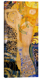 Canvas print  Water Serpents I - Gustav Klimt