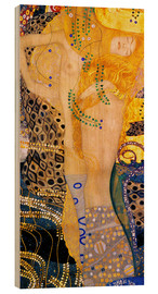 Wood print  Water Serpents I - Gustav Klimt