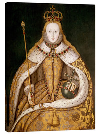 Canvas print  Queen Elizabeth I in Coronation Robes - English School