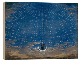 Wood print  The Palace of the Queen of the Night - Karl Friedrich Schinkel