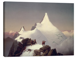 Canvas print  View of the Grossglockner mountain - Marcus Pernhart