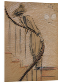 Acrylic glass  The Staircase - Paul Cesar Francois Helleu