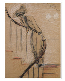 Poster  The Staircase - Paul Cesar Francois Helleu