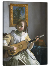 Canvas  Guitar player - Jan Vermeer