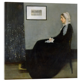 Acrylic print  Arrangement in Grey and Black: The Artist's Mother - James Abbott McNeill Whistler