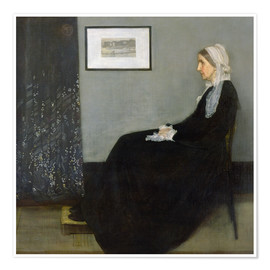 Premium poster Arrangement in Grey and Black: The Artist's Mother