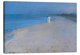Canvas print  Summer evening at the South Beach, Skagen. Anna Ancher and Marie Krøyer. - Peder Severin Krøyer