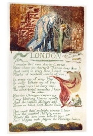 Acrylic print  London - William Blake