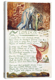 Canvas print  London - William Blake
